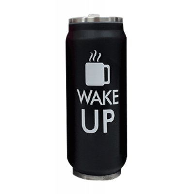 JARRO TERMICO WAKE UP NEGRO 500 ML