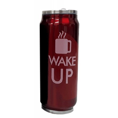 JARRO TERMICO WAKE UP ROJO 500 ML