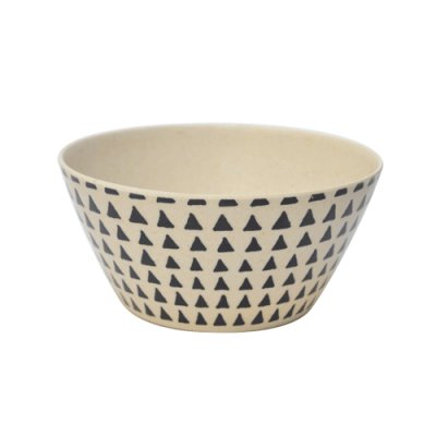 BOWL BAMBOO SET X4 C/TRIANGULOS 14.5