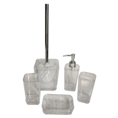 SET DE BAÑO 5Pzas CLEAR