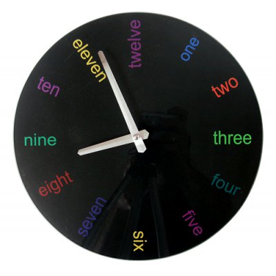 RELOJ PARED ENGLISH NEGRO 30CM