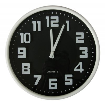 RELOJ PARED BLACK 30,5CM