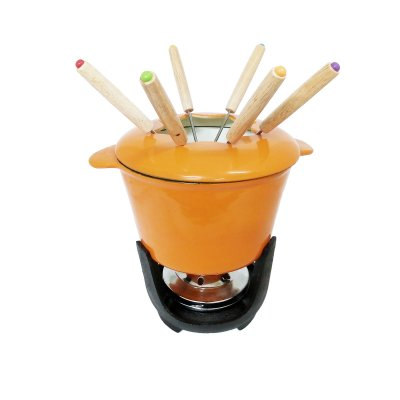 SET FONDUE HIERRO ORANGE